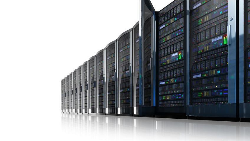 racks de serveurs informatiques pour stocker les données de traçabilité